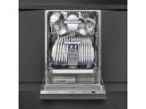 Полностью встраиваемая посудомоечная машина, 60 см, Серебристый Smeg STL825A-2