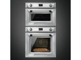 Многофункциональный духовой шкаф с функцией пиролиза, 60 см, Нержавеющая сталь Smeg SFP6925XPZE