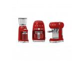 Набор Smeg кофемашина-эспрессо ECF01RDEU + кофемолка CGF01RDEU Красный