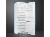 Отдельностоящий двухдверный холодильник, стиль 50-х годов, 70 см, Голубой Smeg FAB38RPB