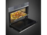 Компактный духовой шкаф, комбинированный с пароваркой, 60 см, Серебристый Smeg SF4104WVCPS