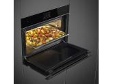 Компактный духовой шкаф, комбинированный с пароваркой, 60 см, Чёрный Smeg SF4604WVCPNX