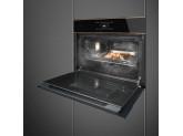 Компактный духовой шкаф, комбинированный с пароваркой, 60 см, Чёрный Smeg SF4606WVCPNR