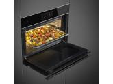 Компактный духовой шкаф, комбинированный с пароваркой, 60 см, Чёрный Smeg SF4606WVCPNX