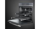 Многофункциональный духовой шкаф с функцией пиролиза, 60 см, Серебристый Smeg SFP6104WTPS
