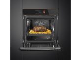 Многофункциональный духовой шкаф с функцией пиролиза, Чёрный Smeg SFP6606WTPNR