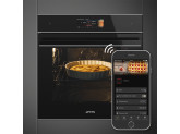 Многофункциональный духовой шкаф с функцией пиролиза, 60 см, Чёрный Smeg SFP6606WTPNX