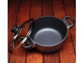 Набор алюминиевой посуды с алмазным покрытием из кастрюли, ковша с крышками и 2-х сковород, Черный Swiss Diamond XD Classic+