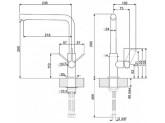 Смеситель однорычажный, Хром Smeg MF22CR2