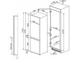 Встраиваемый комбинированный холодильник, Белый Smeg C7280F2P1