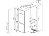 Встраиваемый комбинированный холодильник, Белый Smeg C7280NEP1