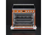 Отдельностоящий варочный центр, 90х60 см, Оранжевый Smeg CPF9IPOR
