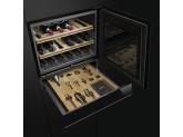Холодильный шкаф для вина встраиваемый , 45 см, Чёрный Smeg CVI618RWNX2