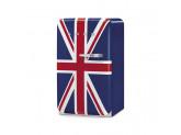 Отдельностоящий однодверный холодильник, стиль 50-х годов, 54,3 см, Британский флаг Smeg FAB10LDUJ2