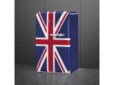 Отдельностоящий однодверный холодильник, стиль 50-х годов, 54,5 см, Британский флаг Smeg FAB10LDUJ5
