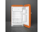 Отдельностоящий однодверный холодильник, стиль 50-х годов, 54,3 см, Оранжевый Smeg FAB10ROR2