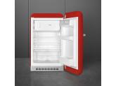 Отдельностоящий однодверный холодильник, стиль 50-х годов, 54,5 см, Красный Smeg FAB10RRD5