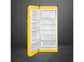 Отдельностоящий однодверный холодильник, стиль 50-х годов, 60 см, Жёлтый Smeg FAB28LYW3