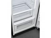 Отдельностоящий однодверный холодильник, стиль 50-х годов, 60 см, Чёрный Smeg FAB28RBL5