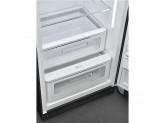 Отдельностоящий однодверный холодильник, стиль 50-х годов, 60 см, Чёрный Smeg FAB28RDBB3