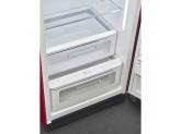 Отдельностоящий однодверный холодильник, стиль 50-х годов, 60 см, Красный Smeg FAB28RDRB3