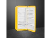 Отдельностоящий однодверный холодильник, стиль 50-х годов, 60 см, Жёлтый Smeg FAB28RYW3