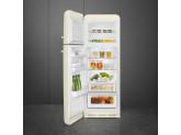 Отдельностоящий двухдверный холодильник, стиль 50-х годов, 60 см, Кремовый Smeg FAB30LCR3