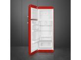 Отдельностоящий двухдверный холодильник, стиль 50-х годов, 60 см, Красный Smeg FAB30LRD5