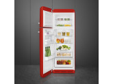 Отдельностоящий двухдверный холодильник, стиль 50-х годов, 60 см, Красный Smeg FAB30LRD3