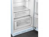 Отдельностоящий двухдверный холодильник, стиль 50-х годов, 60 см, Голубой Smeg FAB30RPB3
