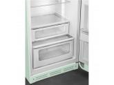 Отдельностоящий двухдверный холодильник, стиль 50-х годов, 60 см, Светло-зеленый Smeg FAB30RPG5