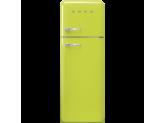 Отдельностоящий двухдверный холодильник, стиль 50-х годов, 60 см, Жёлтый Smeg FAB30RLI3