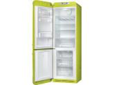 Отдельностоящий двухдверный холодильник, стиль 50-х годов, 60 см, Жёлтый Smeg FAB32LLI3