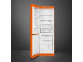Отдельностоящий двухдверный холодильник, стиль 50-х годов, 60 см, Оранжевый Smeg FAB32LOR5