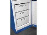 Отдельностоящий двухдверный холодильник, стиль 50-х годов, 60 см, Синий Smeg FAB32RBE3