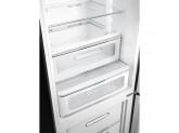 Отдельностоящий двухдверный холодильник, стиль 50-х годов, 60 см, Чёрный Smeg FAB32RBL3