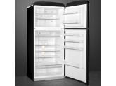 Отдельностоящий двухдверный холодильник, стиль 50-х годов, 80 см, Чёрный Smeg FAB50RBL