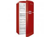 Отдельностоящий двухдверный холодильник, стиль 50-х годов, 80 см, Красный Smeg FAB50RRD
