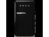 Отдельностоящий минибар, Чёрный Smeg FAB5LWH3, стиль 50-х гг.