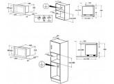 Встраиваемая микроволновая печь, 60 см, Нержавеющая сталь Smeg FMI320X2