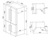 Отдельностоящий 4-х дверный холодильник Side-by-Side, Белый Smeg FQ60B2PE1