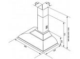 Вытяжка настенная декоративная, 89,5 см, Чёрный Smeg KC19AOE