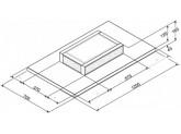 Вытяжка потолочного монтажа, 120 см, Белый Smeg KSCF120B