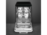 Отдельностоящая посудомоечная машина в стиле 50-х годов, 60 см, Чёрный Smeg LVFABBL