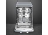Отдельностоящая посудомоечная машина в стиле 50-х годов, 60 см, Серебристый Smeg LVFABSV