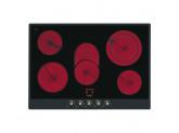 Стеклокерамическая варочная панель, 72 см, Антрацит Smeg P875AO