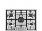 Газовая варочная панель, 72 см, Нержавеющая сталь Smeg PGF75-4