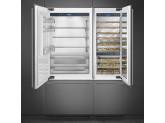 Встраиваемый холодильник, 90 см, Нержавеющая сталь Smeg RI96LSI