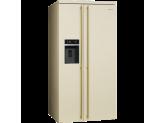 Отдельностоящий холодильник Side-by-Side, Кремовый Smeg SBS8004P
