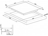 Стеклокерамическая варочная панель, 60 см, Чёрный Smeg SE363ETB
